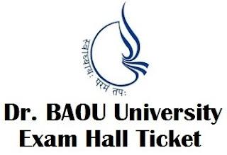 Dr BAOU Degree Exam Hall Ticket 2017