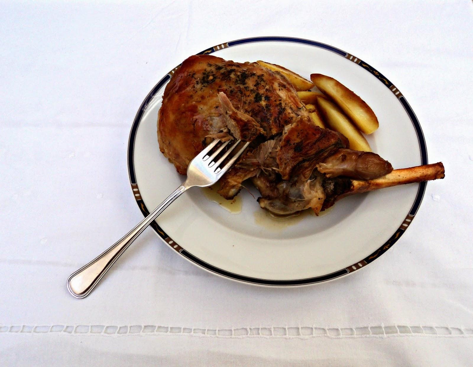 receta casera pierna cordero asada horno