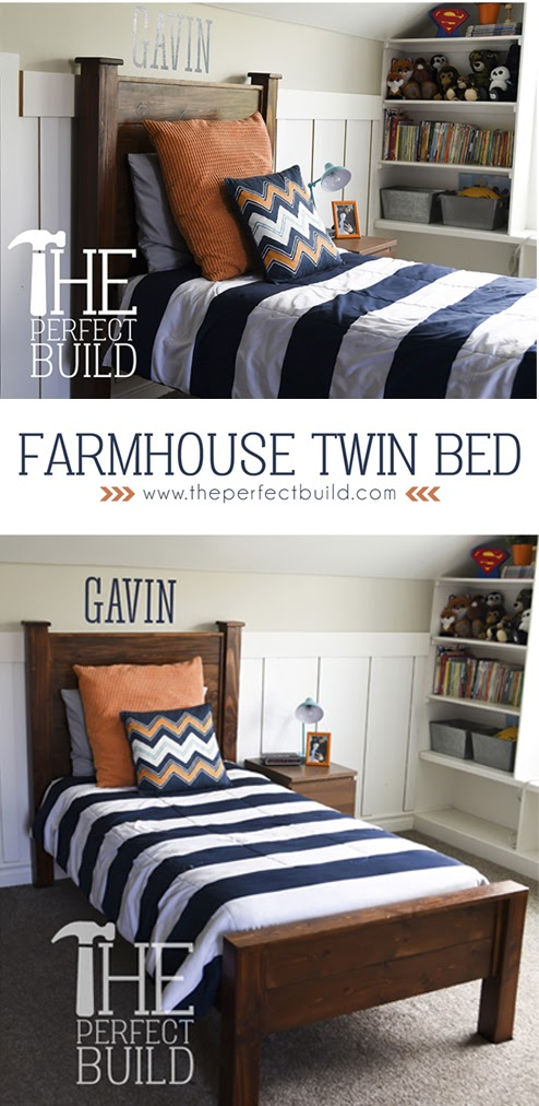 Creativity Unleashed link party and Farmhouse Twin Bed Feature, MyLove2Create