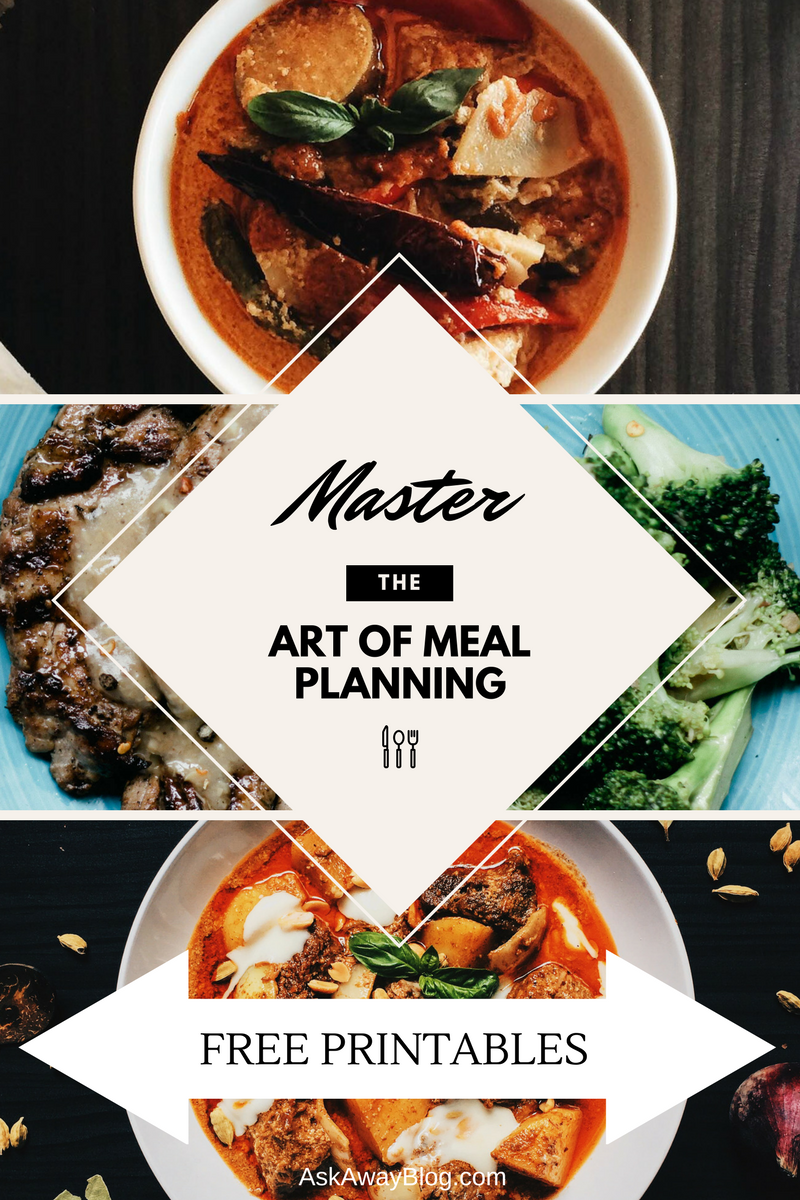 Ask away master the art of meal planning free printables if you do the cooking and grocery shopping in your household you already know how stressful it can be the whole idea of dinner isnt just coming home from forumfinder Choice Image