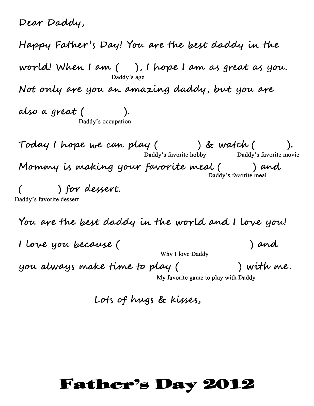 All Things Belle Father S Day Printable