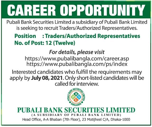 Pubali Bank Securities Limited Job Circular