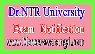 Dr.NTR University B.Sc Nursing /BPT/B.Sc MLT 2016-17 Seats Available for Web Options Notification