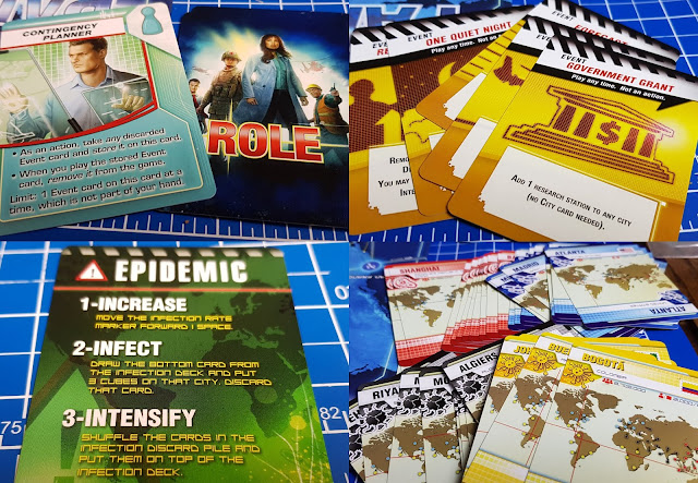 Pandemic Game play cards  epidemic move roles countries