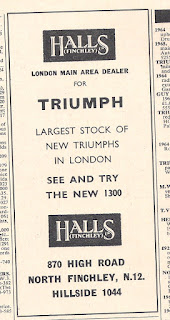 Halls Finchley advert from Motor 29 January 1966