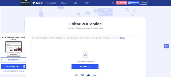 edit file pdf online dan gratis