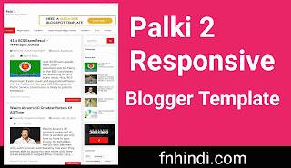 Palki 2 - Responsive Blogger Template Free Download 2020