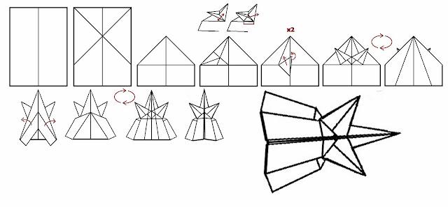 Avión de papel Wing 3