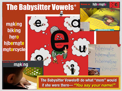 Kinders Decoding Multi-Syllabic Words with Secret Stories® Babysitter Vowels®!