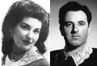 Carlo Bergonzi and Maria Callas (left) performed together at the Metropolitan Opera