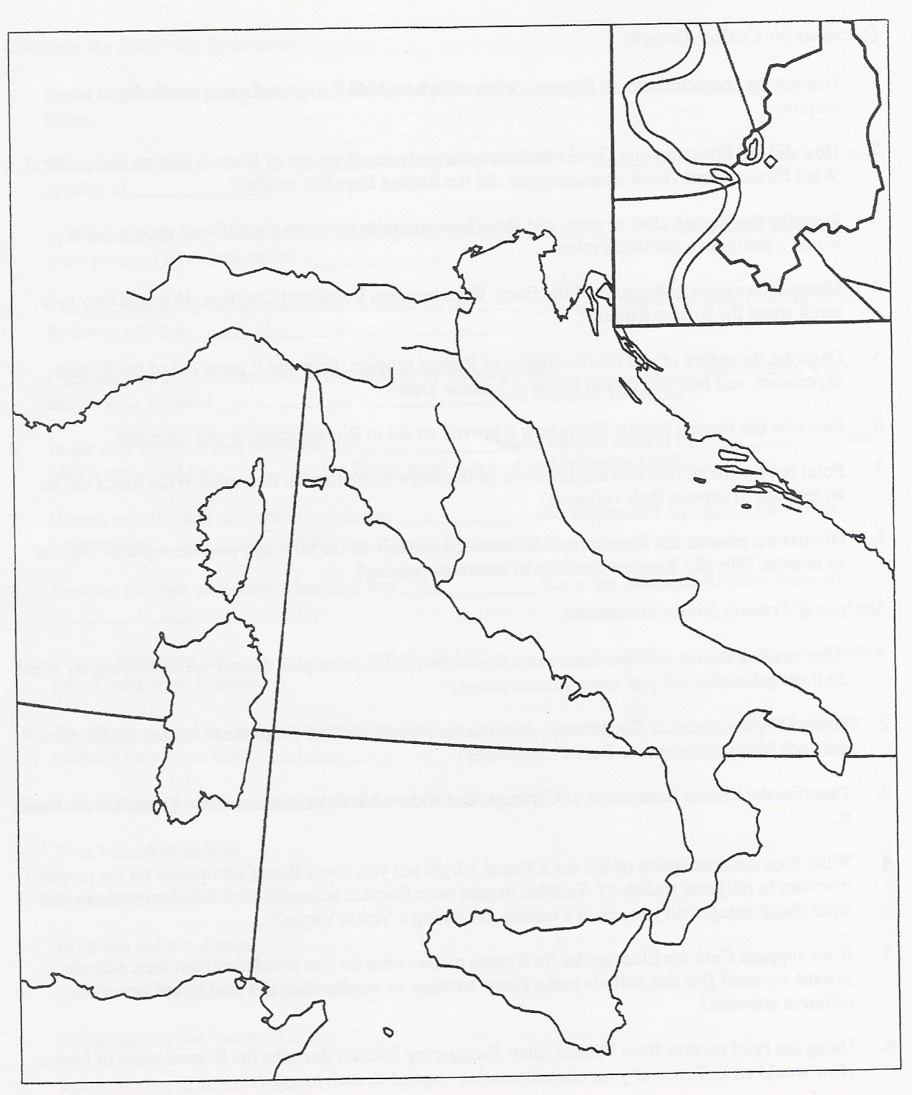mr morris world history 9 website 2012 2013 early rome and the Simple Map of Italy mr morris world history 9 website 2012 2013