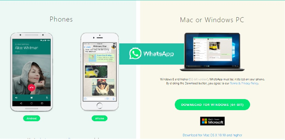 Whatsapp Desktop Audio and Video Call: