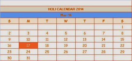 Calendar 2017 Holi Date Holi