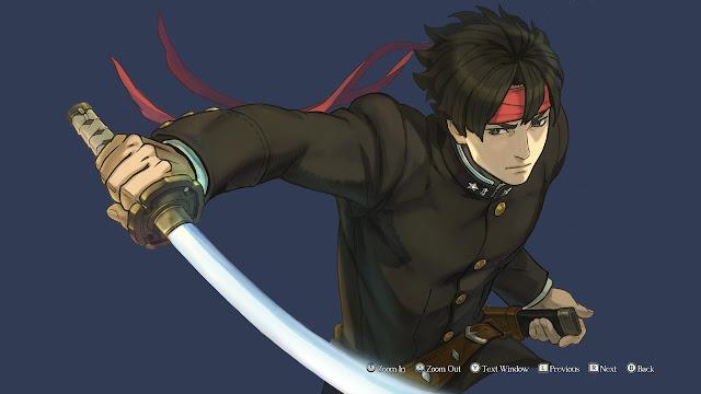 Kazuma Asogi Karuma samurai sword slash The Great Ace Attorney Chronicles gallery artwork
