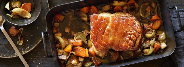 Roast pork with crispy crust