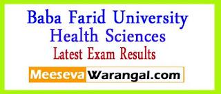 Baba Farid University Of Health Sciences Exam Results