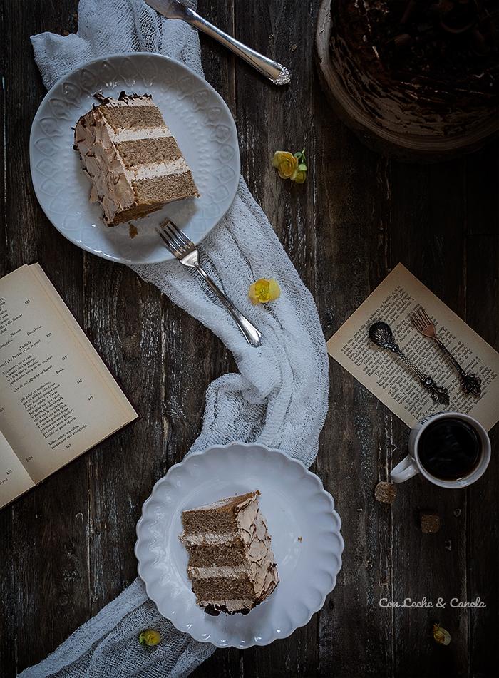 Tarta layer cake cafe moka facil