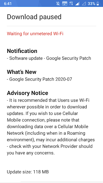 Nokia 5 receiving July 2020 Android Security patch