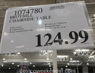 Deal for Broyhill Chairside Table at Costco