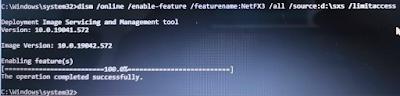 Proses Instalasi Net Framework melalui CMD
