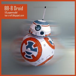 bb 8 droid star wars vii papercraft papercraft paradise papercrafts paper models card models. Black Bedroom Furniture Sets. Home Design Ideas