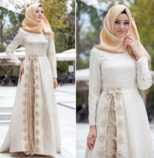 model baju gamis lebaran elegan