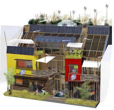 Jeune Virginie Farges - architecture écologique : MAISONS DE VILLE NW-22
