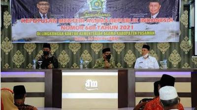 Kemenag Kabupaten Pasaman Laksanakan Sosialisasi KMA 660