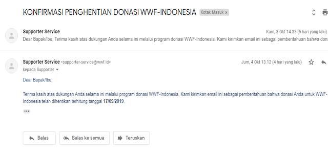 Cara Berhenti Langganan Donasi Autodebet WWF Indonesia