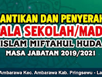 Desain Banner Pelantikan dan Penyerahan SK Kepala Sekolah Yasmida Ambarawa