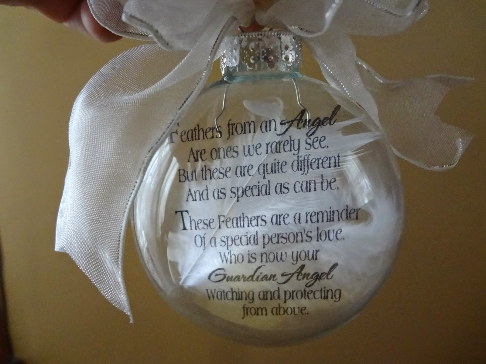 The Joy Of Scrapping Angel From Heaven Poem Floating Ornament