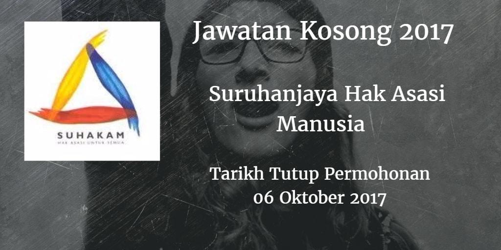 Jawatan Kosong SUHAKAM 06 Oktober 2017