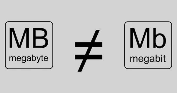 Megabit (Mb) vs. Megabyte (MB)