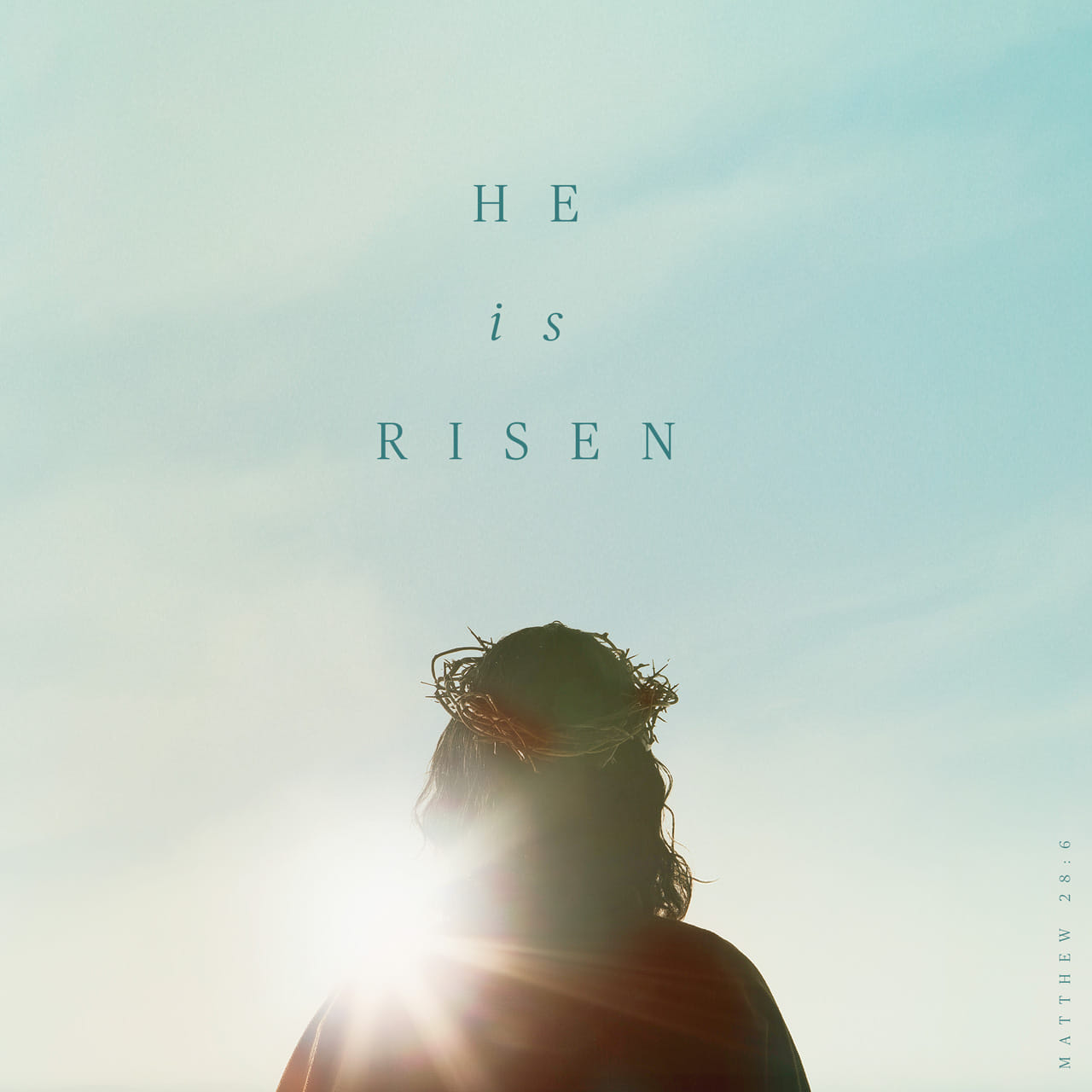 He is not here; he has risen, just as he said. Come and see the place where he lay. Matthew 28:6 NIV https://matthew.bible/matthew-28-6