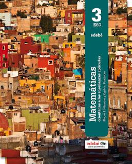 Libro Matemáticas Aplicadas 3º ESO Edebé Proyecto Edebé On (LOMCE)