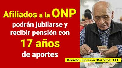 Afiliados a la ONP podrán jubilarse y recibir pensión con 17 años de aportes