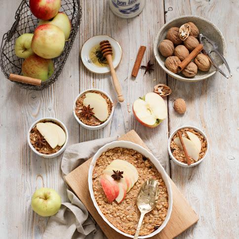 Jabłkowy sezon  i przepis na najlepszą pieczoną owsiankę