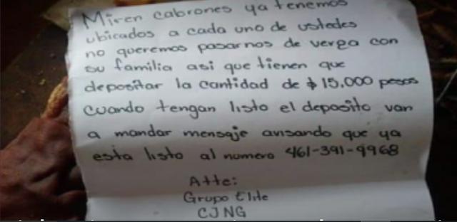 Como ya no tienen que les de Guerra ahora El CJNG se aprovecha de la gente de Guanajuato y les cobra cuota de hasta 15 mil pesos
