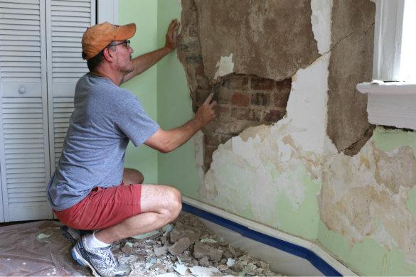 Restoring Plaster Walls Bringing Stephanie S Room Back To