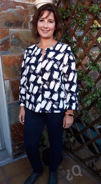 Burda revista blusa febrero 2015 02/2015 blouse shirt