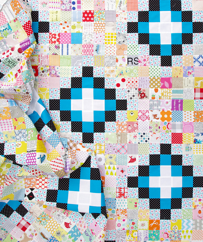 Irish Chain Scrap Buster Quilt II - Work in Progress | Red Pepper Quilts 2015