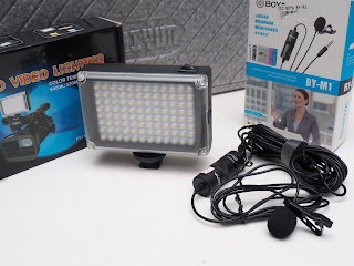Zhiyun Smooth 4 + Mic Boya + Video LED Light ( Sepaket )