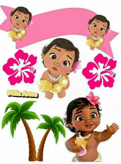 Free Printable Moana Baby Cake Toppers Oh My Baby