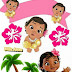 Free Printable Moana Baby Cake Toppers.
