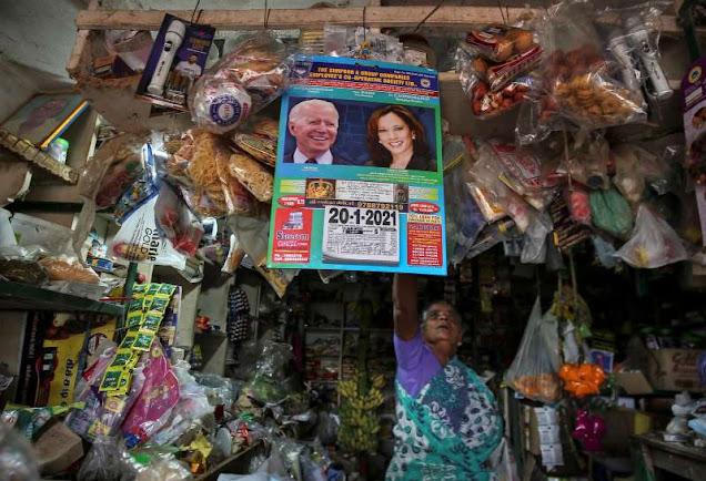 Indian people applaud Kamala Harris ahead of America's inauguration