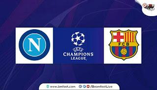 بث مباشر مباراة برشلونة ضد نابولي مباشرة في دوري أبطال اوروبا