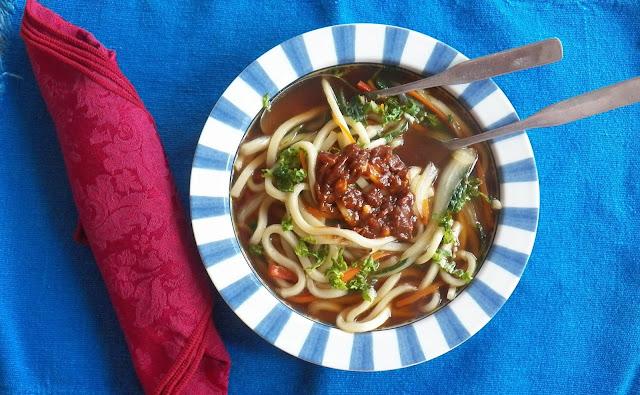 Sambal Kagang Udon Noodle Soup