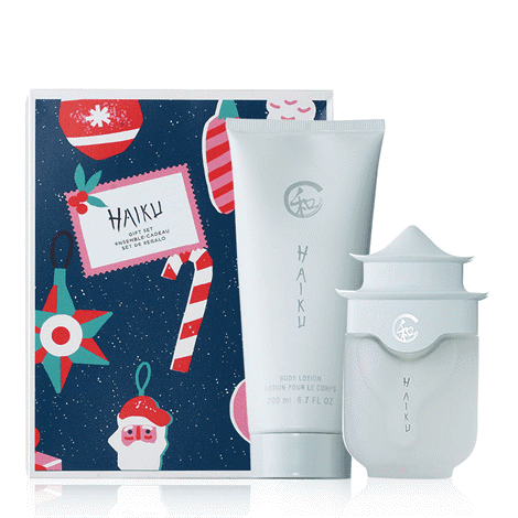The gift set includes; Haiku Body Lotion and Haiku EDP Spray Product Number 2222792