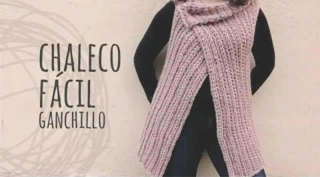 Aprende a tejer un chaleco fácil y rápido a ganchillo con este tutorial