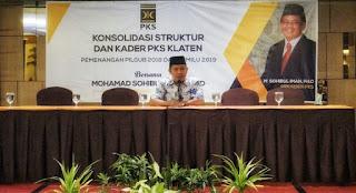 26 DPC PKS se-Klaten Gelar Rakercab Menangkan Sudirman-Ida